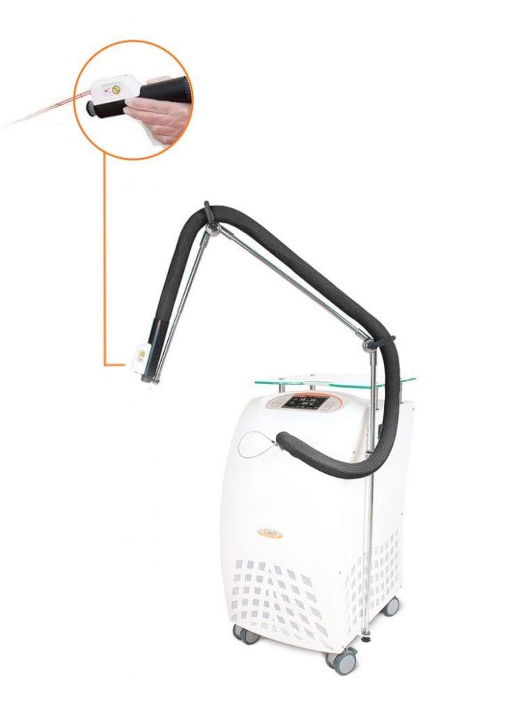 Aparat do schładzania skóry przy zabiegach laserowych